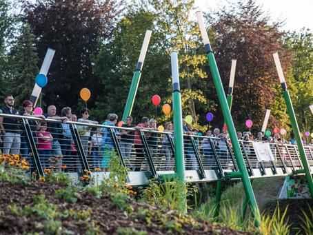 """""""Parkbrücke"""" wird eingeweiht - Stadtpark bekommt neue Mitte"""