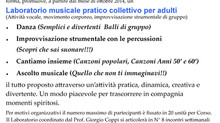 LABORATORIO Musicale per Adulti