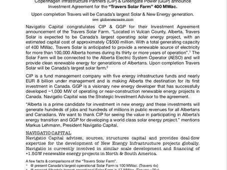 Navigatio - Strategic Investment Advisor - Canada's Largest Solar Production Facility