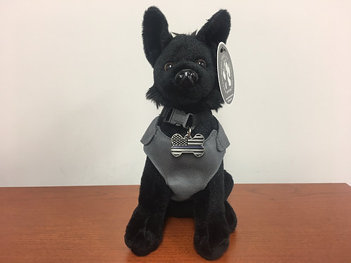 Plush Stuffed Dog - BLACK