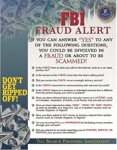 FBI Fraud Alert