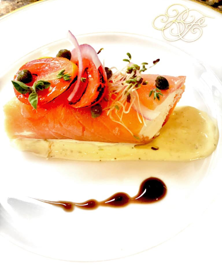 smoked salmon and goat cheese