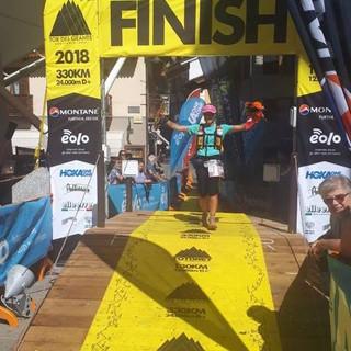 Caterina Corti  finisher al Tor des Geants