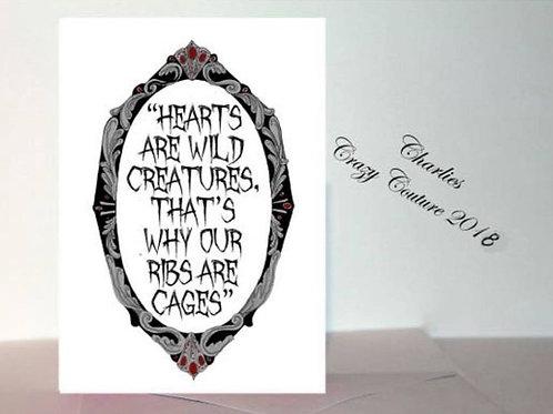 Morticia Addams Quote card A6