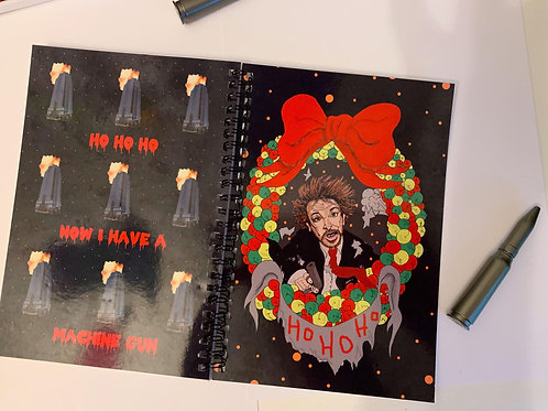 Hans Gruber note book and bullet pen
