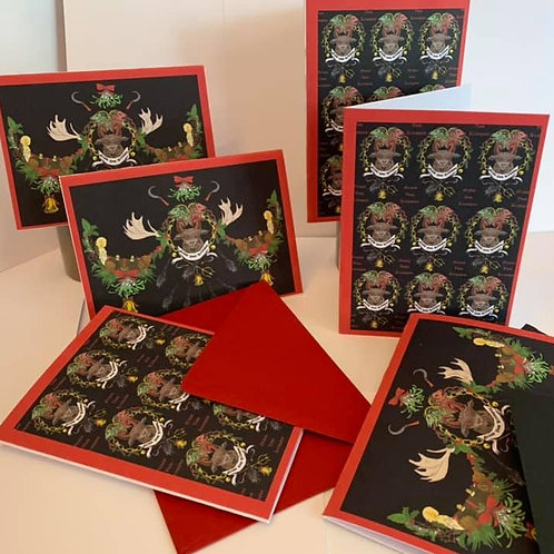 Gruss Vom Krampus pack of six Christmas cards