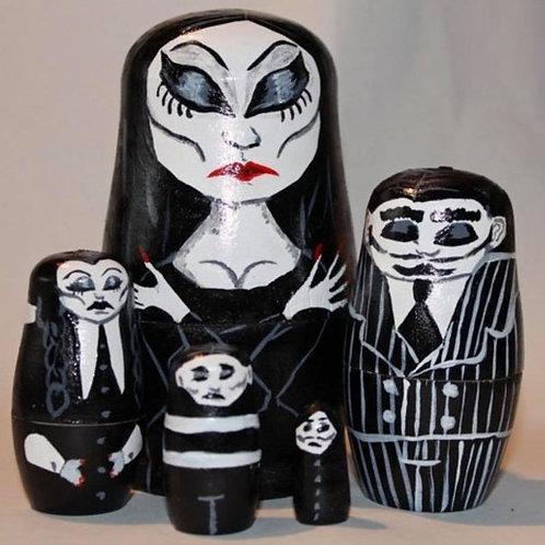 Addams Family nesting dolls