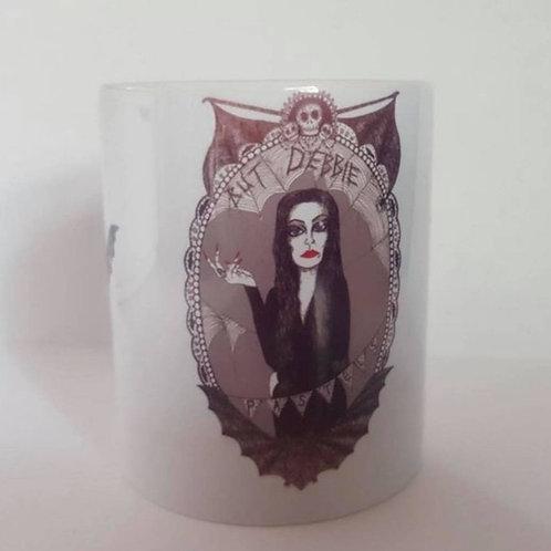 But Debbie, Pastels? Morticia Addams Quote mug