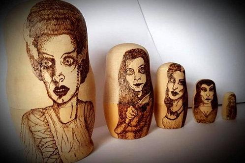Ladies of Horror nesting doll set