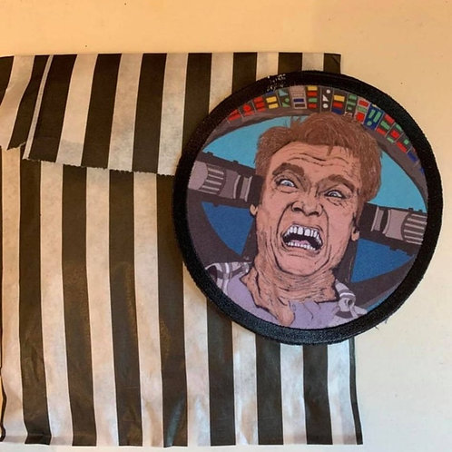 Total recall / Arnold Schwarzenegger patch /iron on patch /Arnie sci fi patch