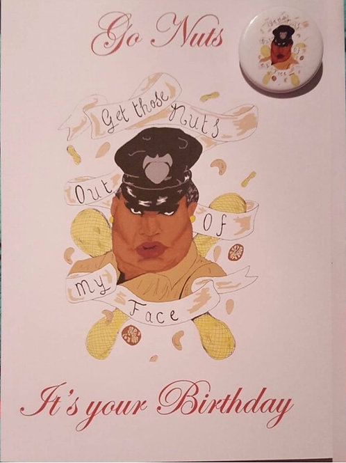 Latrice Royale Birthday card and Badge