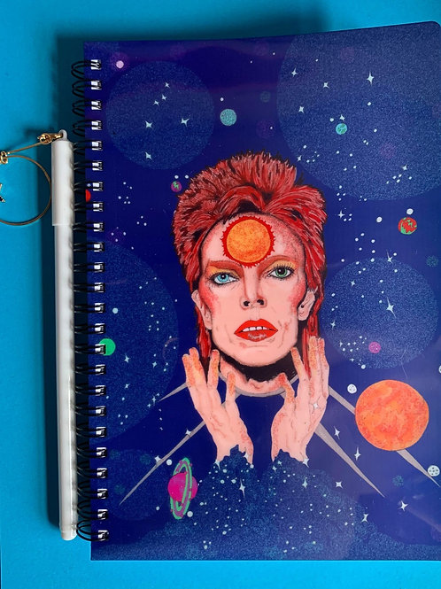 David Bowie /Ziggy Stardust note book and star pen