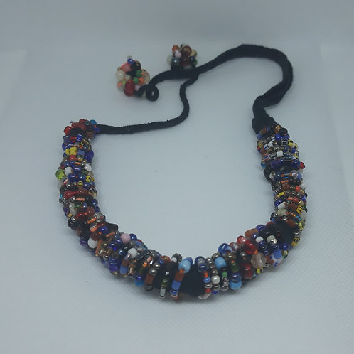 Handcrafted West African wristband, necklace and hair holder