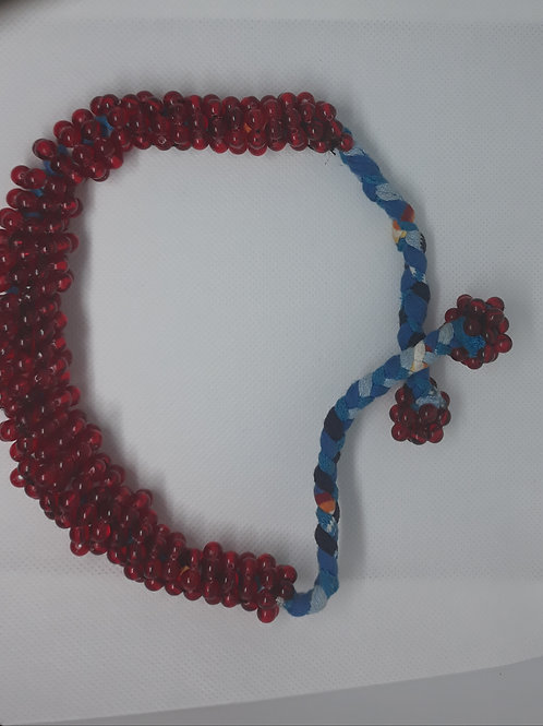 Handcrafted West African handmade wristbands, necklace and hair holder