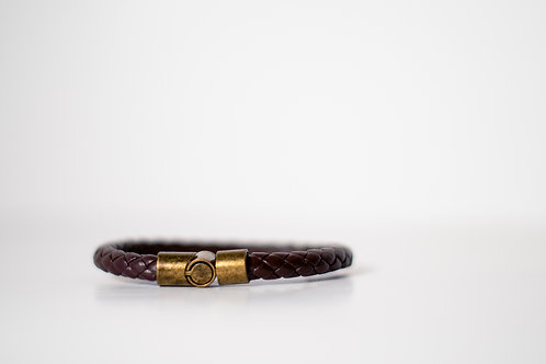 Imported West African leather bracelet