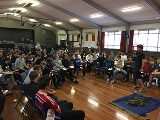 Leadership development with year 13 boys from scots college