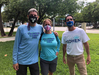 VolunteerCleanup.org Directors and Stephen Cohen for Commissioner 2021