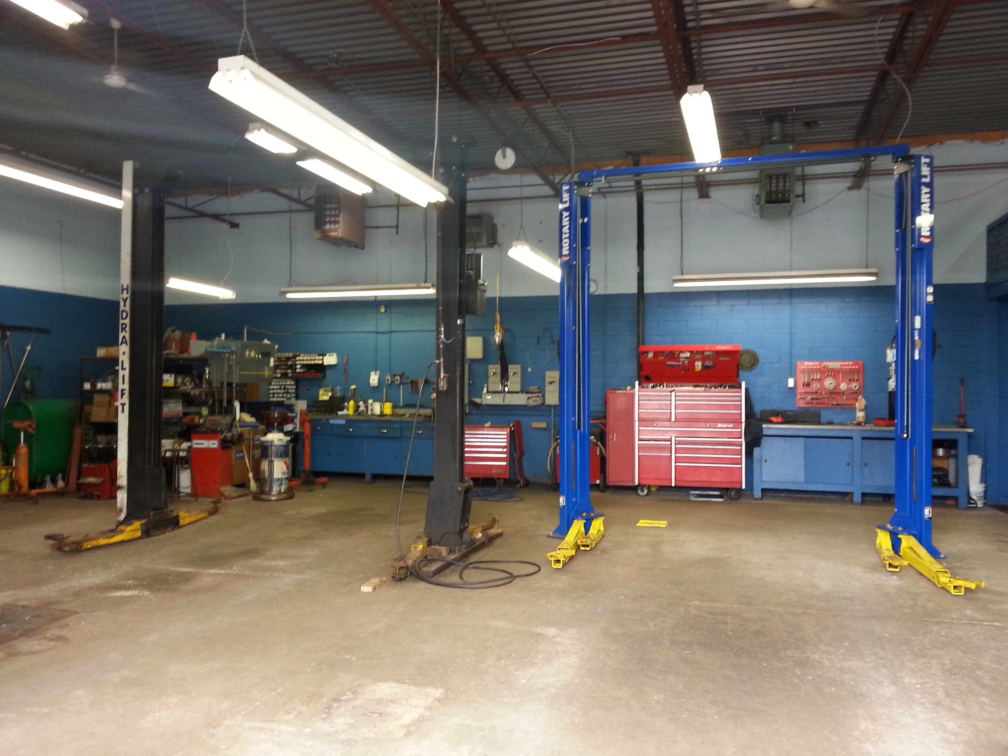 Inside the Dave's Auto Service shop