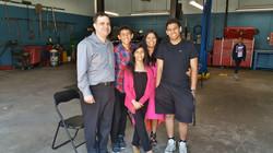 David Kellner and his family