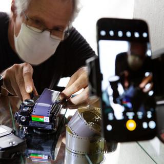 Canon F1 com película
