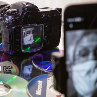 Nikon D 200 com discos