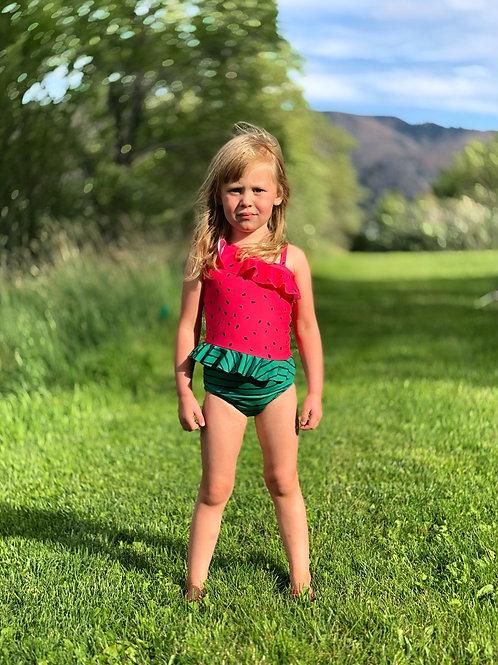 Sabrina watermelon swimsuit