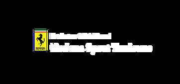 Logo Modena Sport Toulouse Ferrari blanc