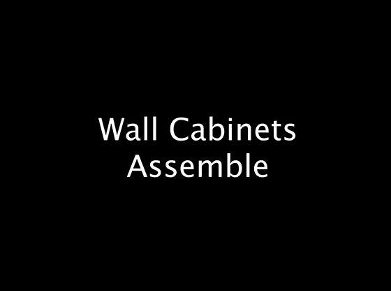 Wall Cabinet Assemble