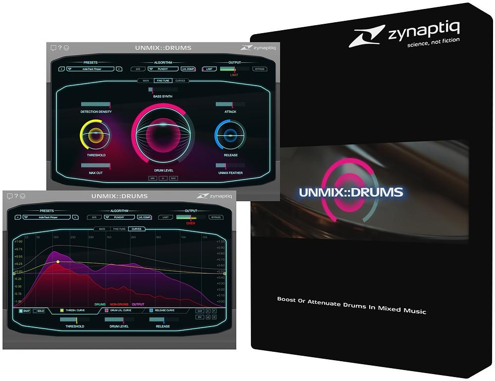 download for free Zynaptiq - UNMIX DRUMS 1.0.3 VST, VST3, AAX x86 x64