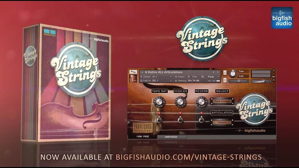 download for free Big Fish Audio - Vintage Strings (KONTAKT)
