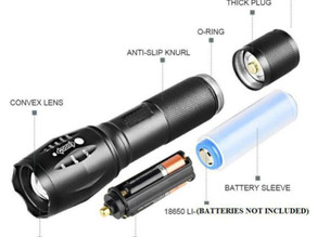 How to plug in rechargeable torch?