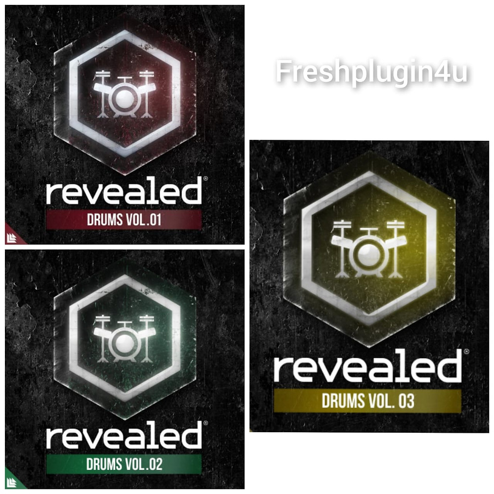 free Revealed Drums Vol.1,2,and,3