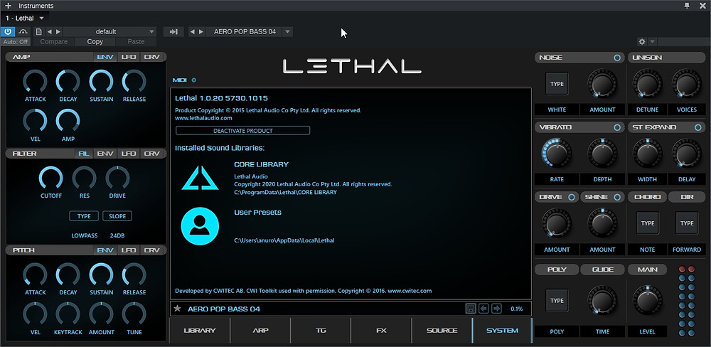 Lethal Audio Lethal Expansions WIN & MAC OSX download