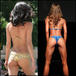 Bikini Competitor Evina Del Pizzo Strong House Training OWNER