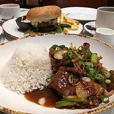 Cantonese Stir Fired Beef with rice