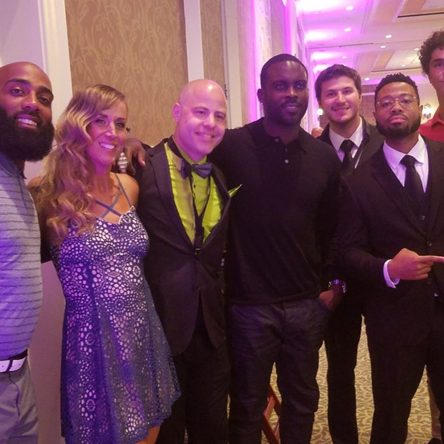 With NFL Stars DeAngelo Hall and Michael Vick, Hershey PA