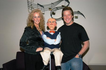 Jenifer with Jeff Dunham and Walter
