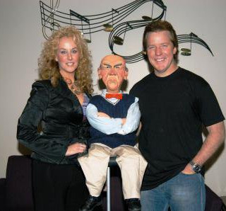 Jenifer with Jeff Dunham and Walter
