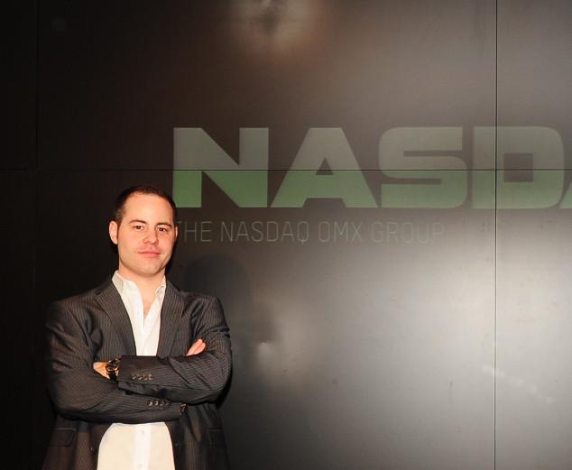 Erich at the NASDAQ Building Studio, NY NY