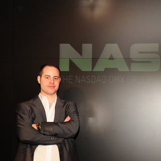 Erich at the NASDAQ Building Studio, NY NY