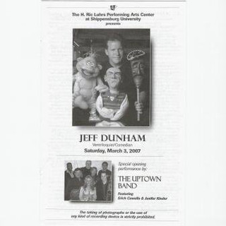 Opening for Jeff Dunham, Luhrs Center, Shippensburg PA