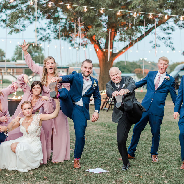 Erich having fun with the Bridal Party