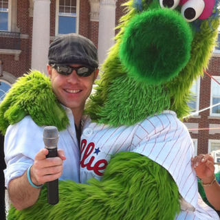 With The Phillie Phanatic, Reading Hospital Garden Party, Reading PA