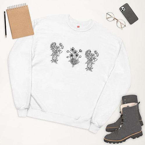 3 Wildflowers Unisex fleece sweatshirt