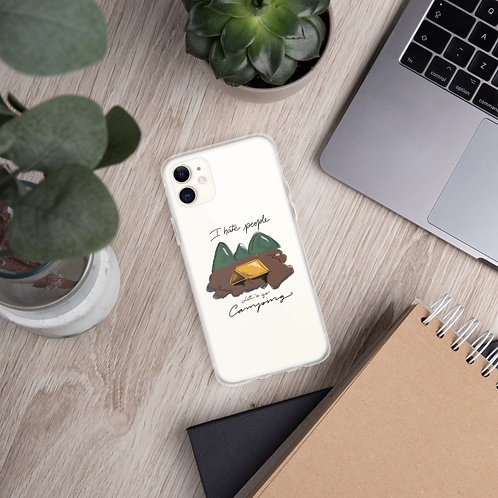 """I hate people, let's go camping"" iPhone Case"