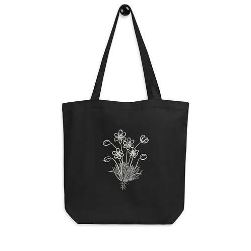 Wildflowers Bunch- Black Eco Tote Bag