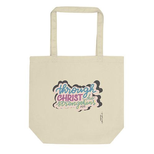 Through Christ who strengthens me Eco Tote Bag