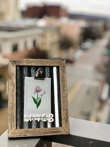 Polaroid with Frame - Be kind
