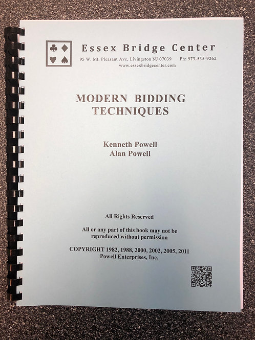 Modern Bidding Techniques - The Blue Book