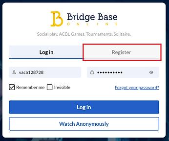 BBO - How to register
